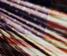 Old Grunge USA Flag