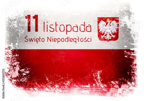 Plakat 11 Listopada Narodowe święto Niepodległości W Polsce