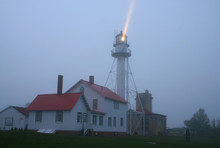 Whitefish Point Lighthouse Located In Michigan On Lake Superior
