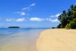 Sandy beach at Pangaimotu island near Tongatapu island in Tonga