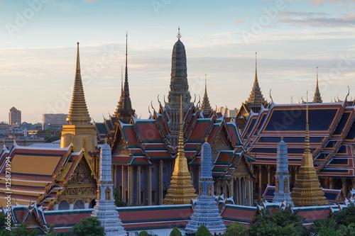 Photo Stands Bangkok Grand palace called Wat phra keaw, Bangkok Thailand landmark