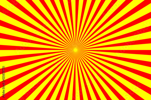 Photo  Radiating yellow and red lines