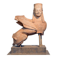 Marble Statue Of A Sphinx, Fou...