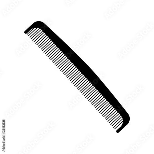 Fotomural comb icon over white background