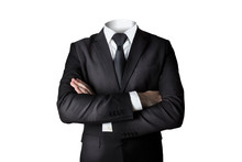 Businessman Without Head Isola...