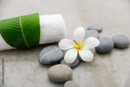 Foto auf Gartenposter Spa spa theme objects on grey background.