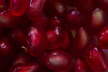 macro berry pomegranate