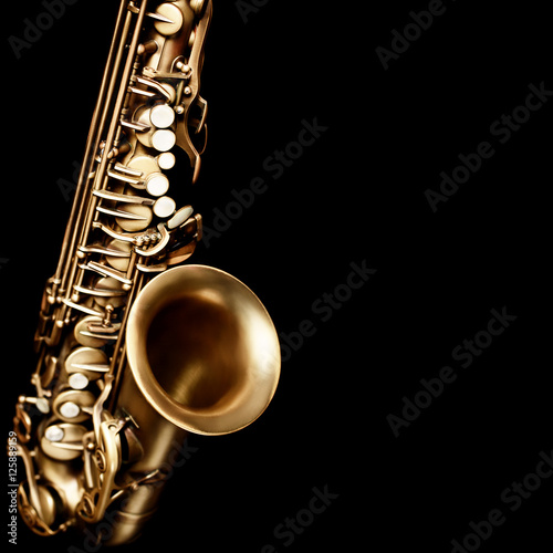 Door stickers Music Saxophone jazz music instruments alto sax