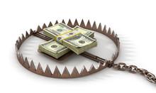 Finance Risk Concept. Money On...