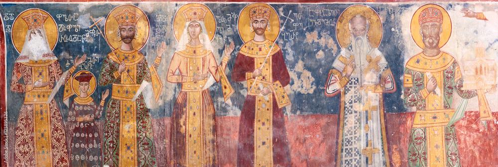 Fototapety, obrazy: Ancient XVI century fresco in Gelati Monastery Georgia