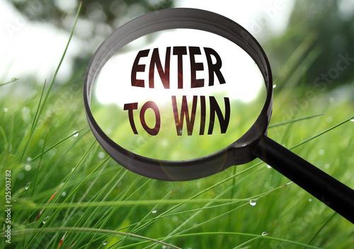 enter to win плакат