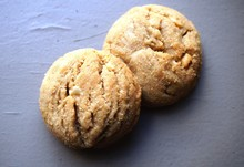 Two Round Peanut Butter Cookies