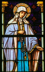 Mother Mary - Stained Glass
