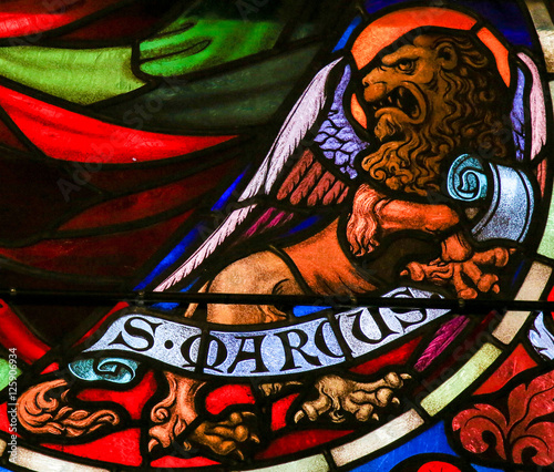 Stained Glass of St Mark the Evangelist Wallpaper Mural