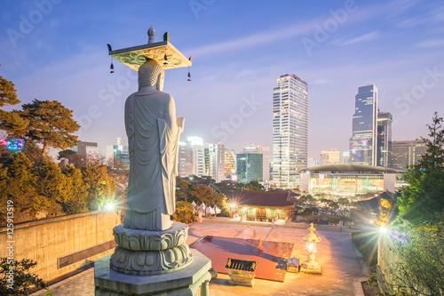 Foto op Canvas Seoel Bongeunsa Temple in the Gangnam District of Seoul, Korea