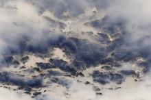 Artistic Impressionist Seascape Of Ocean Waves Crashing Onto Rocks