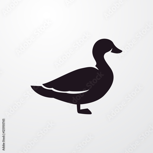 Valokuvatapetti duck icon illustration