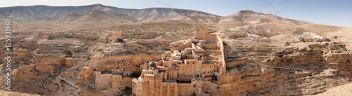 Large panoramic view of the The Holy Lavra of Saint Sabbas the S