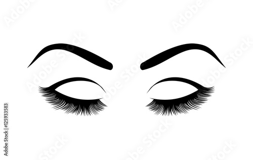 Fotografía  Eyelashes vector illustration
