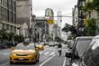 New York City Taxi Streets USA Black white yellow