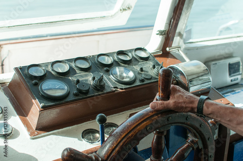 cuadro de control de barco Canvas Print