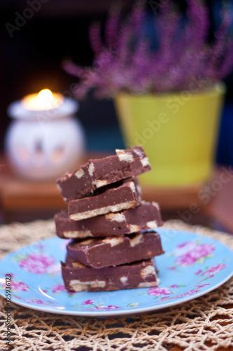 Obraz blok czekoladowy - fototapety do salonu