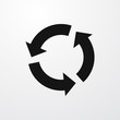 circular arrow icon illustration
