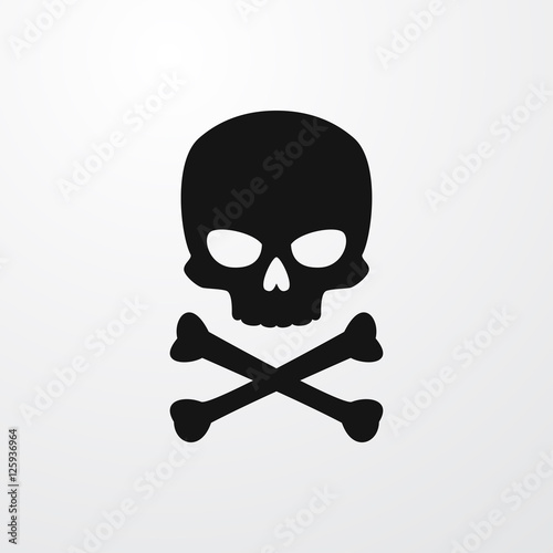 skull icon illustration Wallpaper Mural