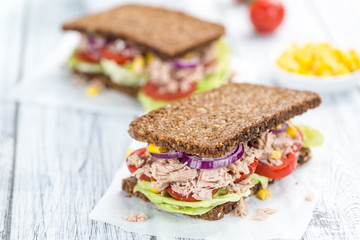 Tuna Sandwich (on wholemeal bread)