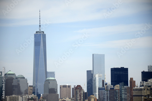 New York City USA Skyline Big Apple River view 2 плакат