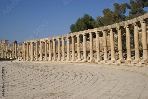 Tuinposter Midden Oosten Roman Forum Jerash (Gerasa) a Roman Decapolis city, Jordan