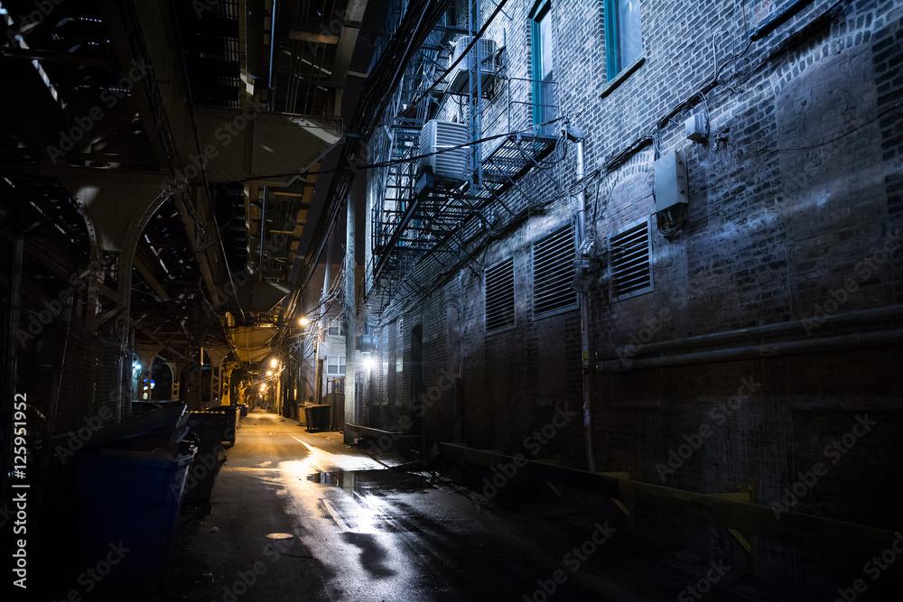 Fototapeta Dark City Alley