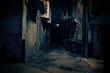 canvas print picture - Dark City Alley