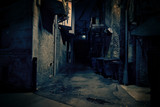 Fototapeta Uliczki - Dark City Alley