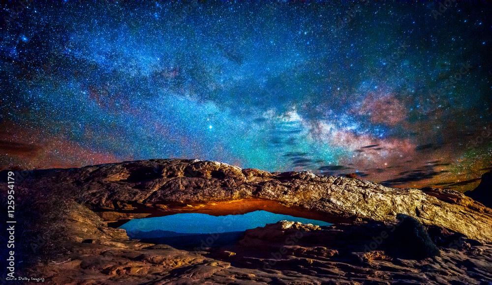 Fototapety, obrazy: MiIlky Way over Mesa Arch