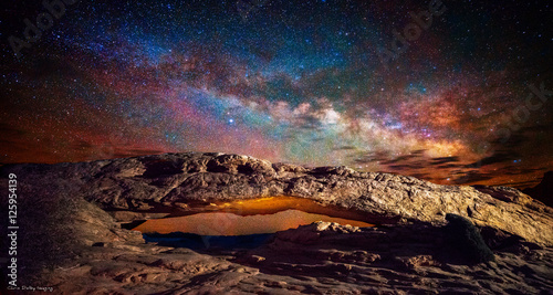 Aluminium Prints Universe Milky Way at Mesa Arch