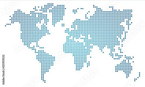 Dot world map