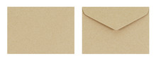 Brown Envelope Front And Back ...