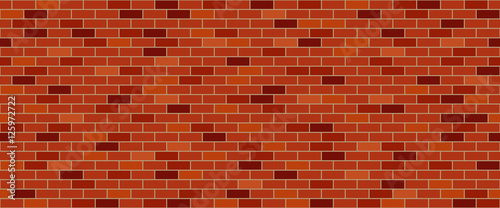 Red brick wall  - 125972722