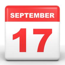 September 17. Calendar On Whit...