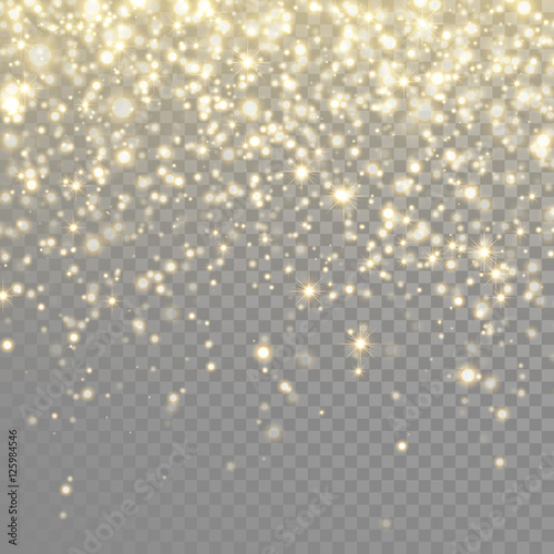 Fotografia Vector gold glitter particles background effect