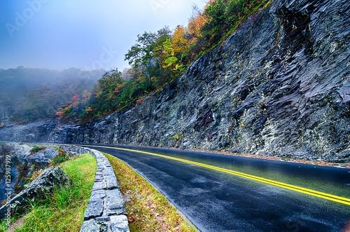 Fotografie, Obraz  autumn colors in the blue ridge mountains