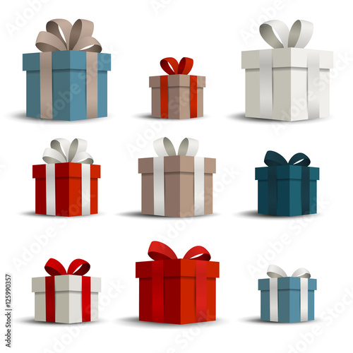 Fotografie, Obraz  Vector Illustration of Gift Boxes