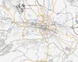 Map of Skopje city. Macedonia Roads