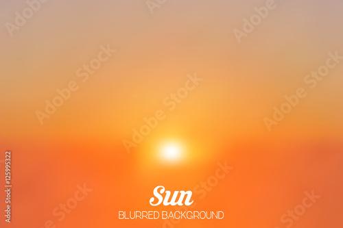 Valokuva  Sun Blurred Illustration