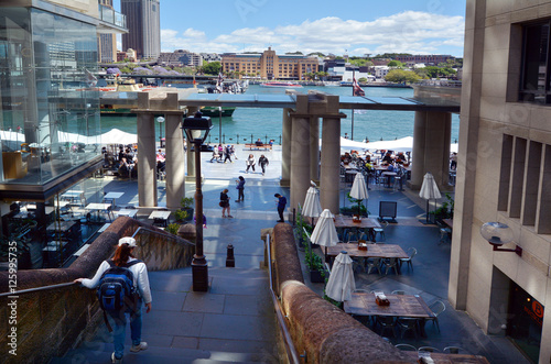 Visitors at Sydney Cove Sydney New South Wales Australia