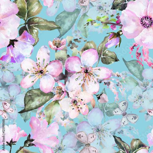 bezszwowy-wzor-z-kwiatami-akwarela-kwiecistym-wzorem-kwiatem-rozanym-i-sakura-w-pastelowym-kolorze-bezszwowym-kwiatowym-wzorem-dla-tapety
