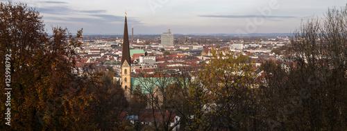 Poster Marron chocolat bielefeld germany panoramic cityscape