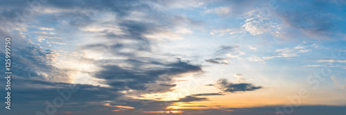 Fotografia, Obraz  Panoramic sun rise and sun set background.