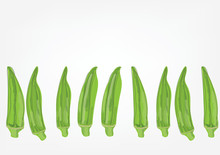 Lady Fingers Or Okra Plant Fru...